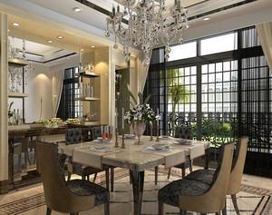 2016唯美大户型欧式餐厅吊顶装修效果图欣赏