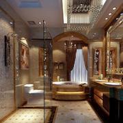 2016唯美的欧式大户型卫生间设计装修效果图欣赏