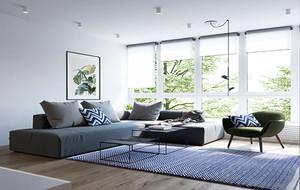 80平米现代简约风格时尚公寓装修效果图