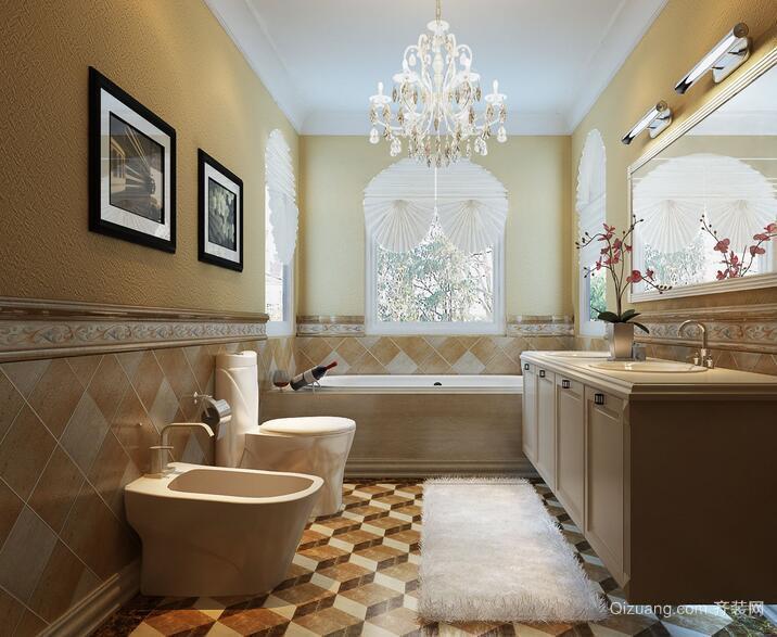 2016三居室欧式卫生间室内设计装修效果图