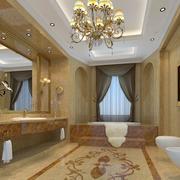 2016别墅欧式卫生间吊顶设计装修效果图欣赏
