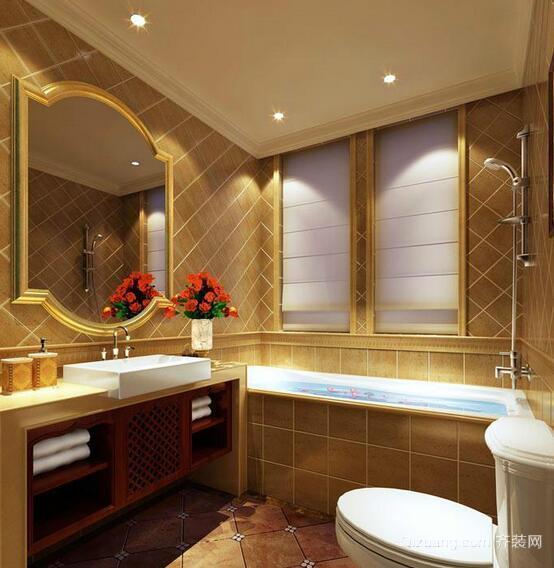 100平米欧式别墅型卫生间装修设计效果图