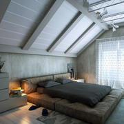简约风格阁楼卧室