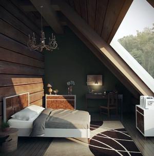50平米简约风格阁楼卧室装修效果图赏析