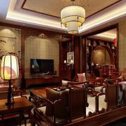 中式风格客厅整体设计效果图