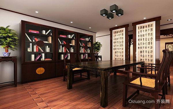 2016年大户型新中式风格精致书房装修效果图