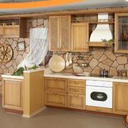 2016别墅欧式厨房橱柜设计装修效果图欣赏