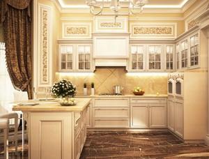 2016大户型欧式厨房室内装修效果图欣赏