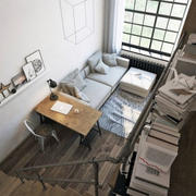 公寓客厅俯视图