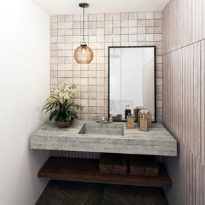 2016年40平米现代简约风格灰色主题公寓装修效果图