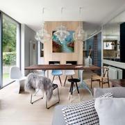 90平米北欧风格自然创意餐厅装修效果图
