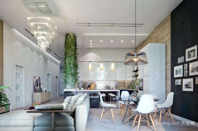 70平米北欧风格室内厨房餐厅装修效果图