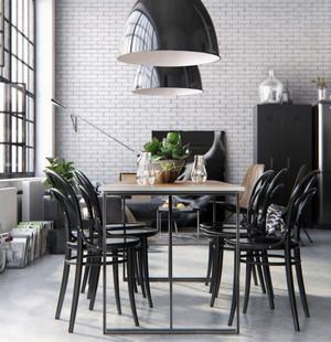 后现代风格80平米黑色主题餐厅装修效果图