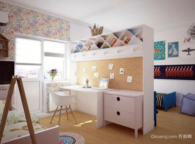 简约风格两居室温馨舒适儿童房装修效果图