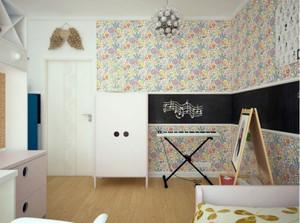 都市风格温馨舒适儿童房墙纸装修效果图