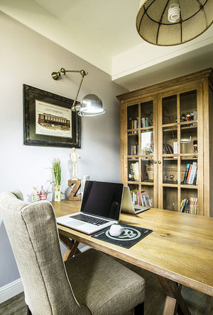 110平米美式乡村风格公寓装修效果图鉴赏