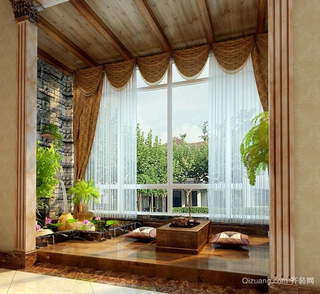 6平米现代简约风格自然舒适阳台榻榻米装修效果图