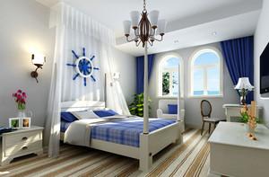 100平米地中海风格简约精致主卧室装修效果图