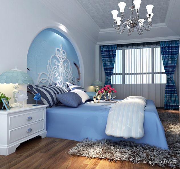 地中海风格别墅型精致室内卧室装修效果图