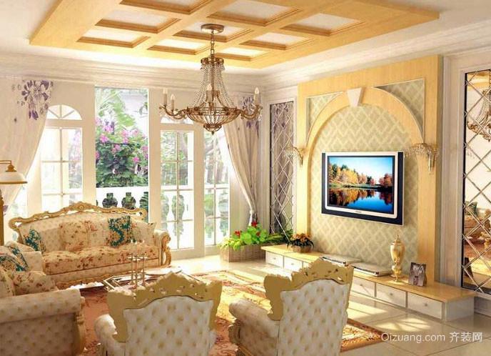 大户型欧式风格客厅装修效果图鉴赏