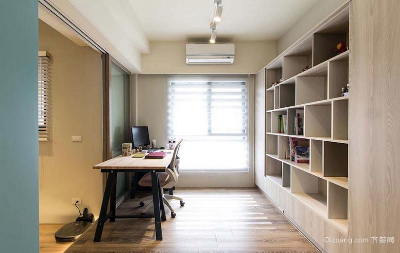 现代简约风格室内大户型书房装修效果图