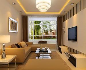 简欧风格大户型客厅电视背景墙装修效果图