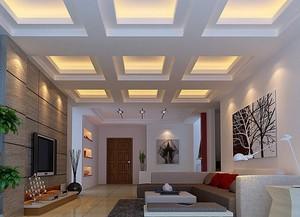 2016欧式别墅客厅吊顶装修效果图欣赏