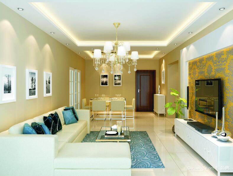 小户型精致的欧式客厅背景墙装修效果图