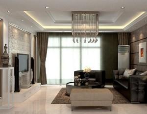 大户型现代简约风格客厅吊顶装修效果图欣赏