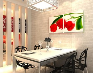 90平米大户型餐厅吊顶室内设计装修效果图