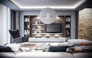 灰色空间低调简约风格单身公寓装修效果图赏析