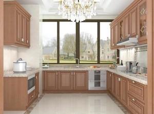 90平米大户型欧式厨房橱柜设计装修效果图