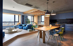 2016年现代田园风格大户型精致公寓装修效果图