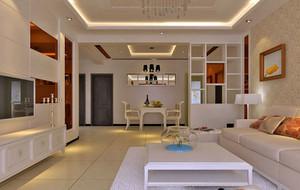 80平米现代简约风格精致客厅装修效果图大全