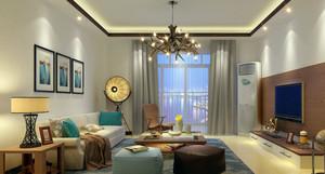 小资们喜欢的都市清新风格客厅装修效果图