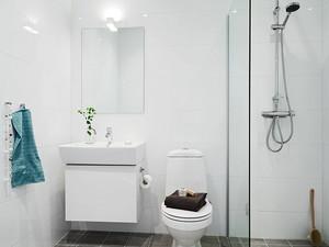 6平米简约风格室内卫生间玻璃隔断装修效果图