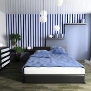 2016小户型现代卧室背景墙装修效果图欣赏
