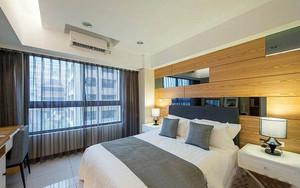 现代简约风格装修三居室公寓实景设计效果图