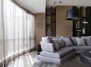 现代简约风格黑色主题大户型公寓装修效果图