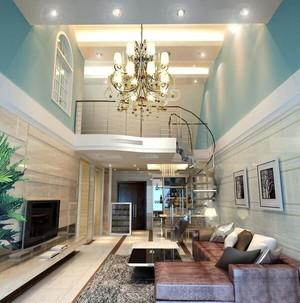 欧式风格复式楼楼梯装修效果图