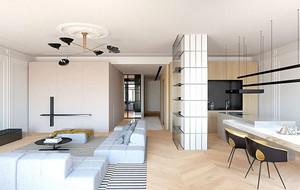 2016年全新款现代简约风格三室两厅装修效果图赏析