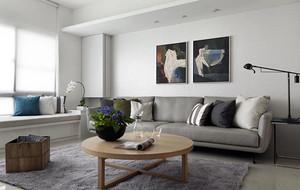 60平米小户型简约温馨舒适室内客厅沙发装修效果图