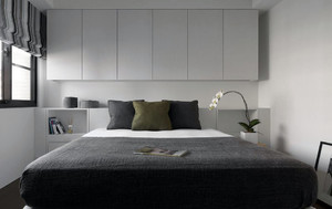 两居室后现代风格简约时尚室内卧室装修效果图