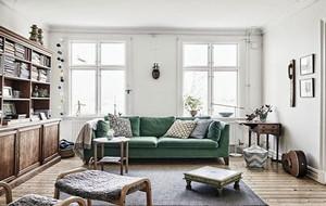 80平米复古欧式田园风格自然舒适公寓装修效果图