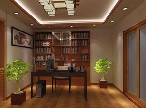 现代中式风格精致大户型书房装修效果图大全