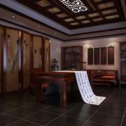现代中式风格书房设计