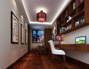 120平米中式风格精致室内书房装修效果图