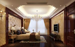 古典欧式风格别墅型室内卧室背景墙装修效果图
