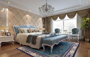 大户型简欧风格精致室内卧室整体设计装修效果图大全