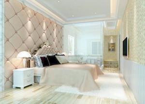 90平米简欧风格精致室内卧室墙纸装修效果图